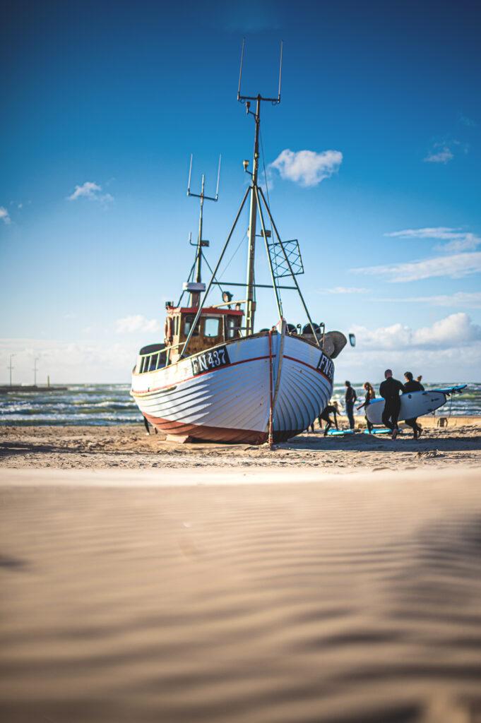 Immer wieder schön, die Fischerboote am Strand