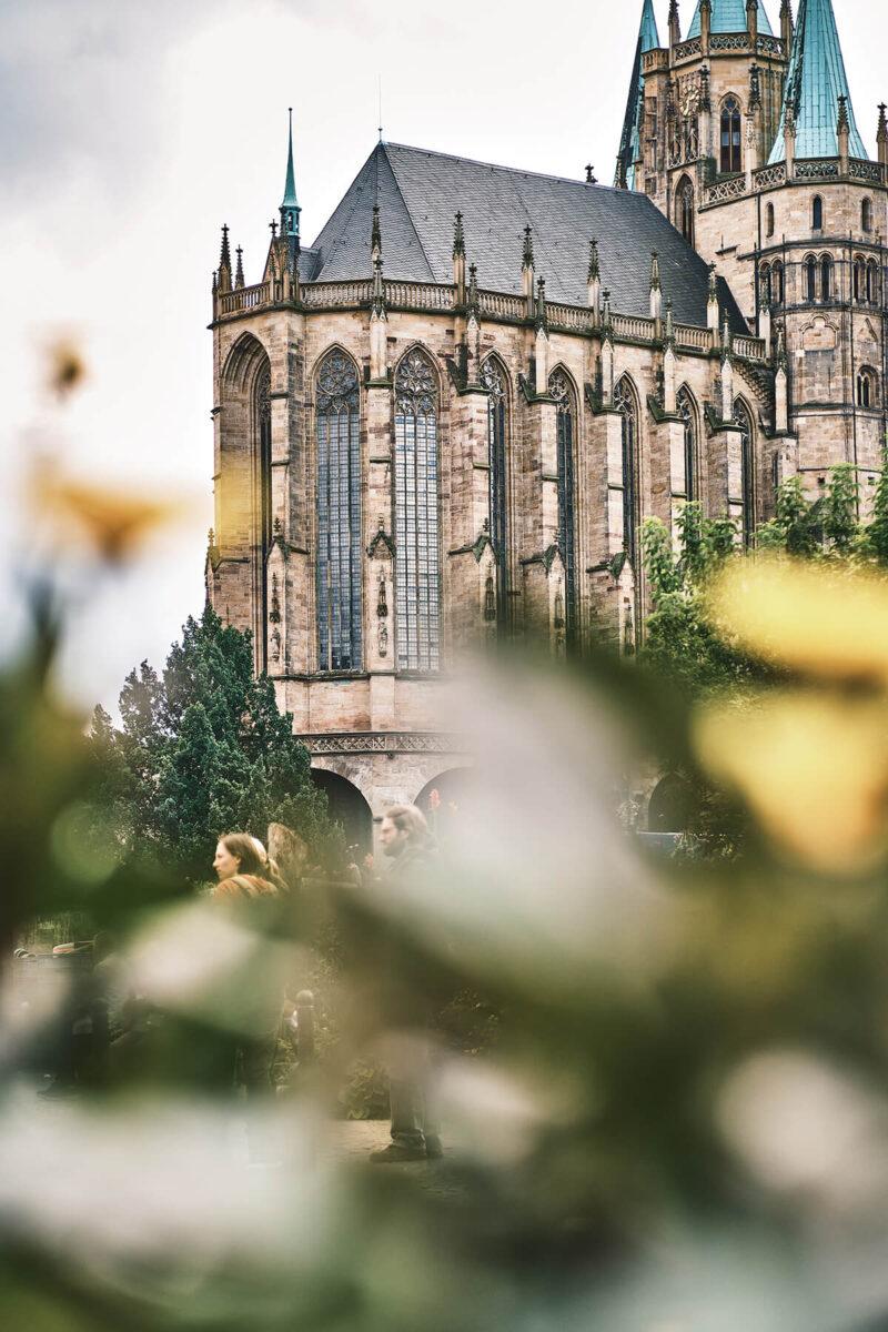 Erfurter Dom vom Domplatz aus