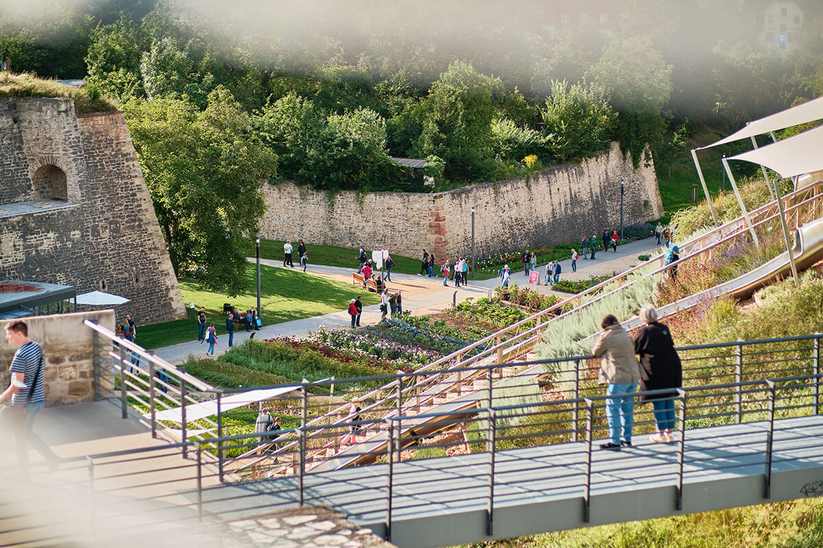 Blick auf das Gelände der Bundesgartenschau 2021